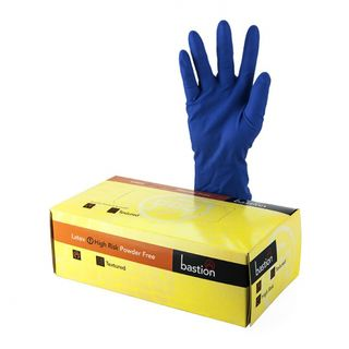 Bastion Latex Hi-Risk PowderFree Gloves - UniPak