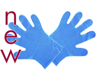 Food Prep Gloves Blue - Medium - Vegware