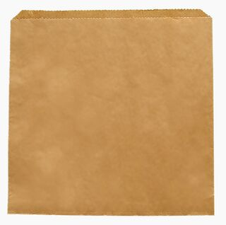Recycled Kraft flat bag 305x305mm - Vegware