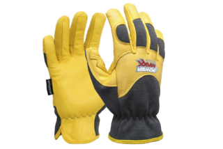 POWERMAXX RIGGER Premium Gold Leather Mechanic Riggers Glove - Esko