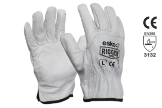 Leather Rigger Glove Premium Cowhide - Esko The Rigger