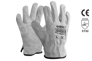 Leather Rigger Glove Premium Suede - Esko The Rigger