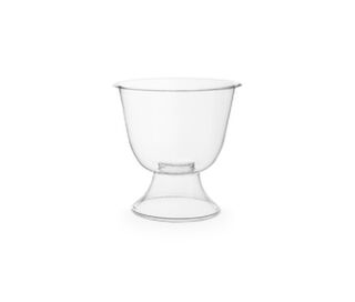 Wine Goblet 2 Piece Clear 6oz 175ml PLA - Vegware - Pack & Carton