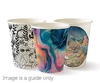 8oz Coffee Cups Art Series (80mm) Single Wall - BioPak