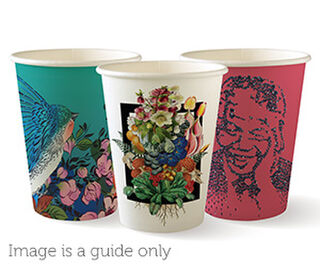 12oz Coffee Cups Art Series (90mm) Single Wall - BioPak