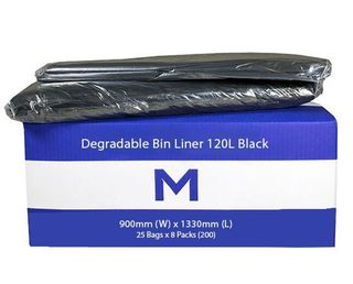Small Wheelie Bin Liner 120L Black