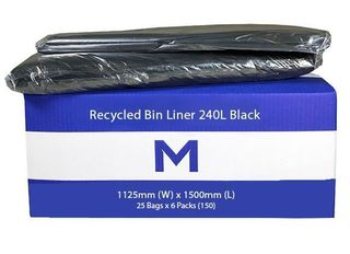 Large Wheelie Bin Liner 240L Black