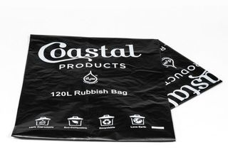 120L Oxo-Degradable Rubbish Bag - Coastal