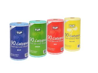 Tuf Calypso Food Service Wipes Roll - Red - Edco