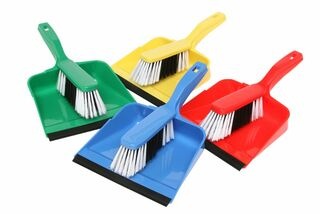 Edco Dust Pan & Brush Set - BLUE - Edco