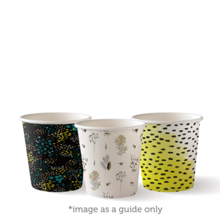 Single Wall Hot Cup Art Series 4oz - BioPak