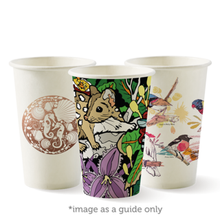 12oz Coffee Cups Art Series (80mm) Single Wall - BioPak