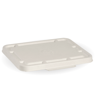 2 & 3 Compartment White BioCane Takeaway Lid - BioPak