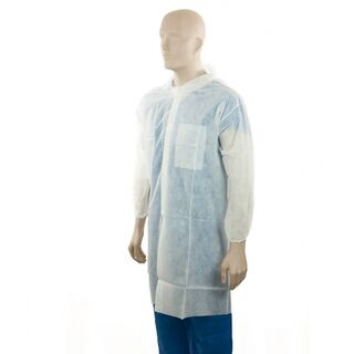 PP Lab Coat - 1 Pocket - White - Large - Bastion