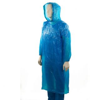 PE Full Length Splash Jacket with Hood - Blue - Bastion