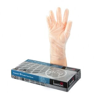 Bastion ProStretch PowderFree Clear Gloves - UniPak