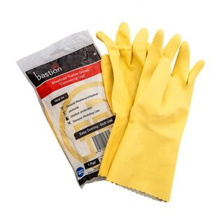 Bastion Silverline Yellow Gloves - UniPak