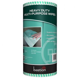 Bastion Heavy Duty Wipes on a Roll - Green - UniPak