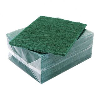 Bastion Green Scouring Pads - 10x10 Pack - UniPak