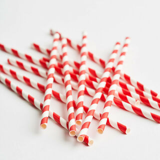 3Ply Drinking Straws REGULAR RED/WHITE STRIPE - Epicure
