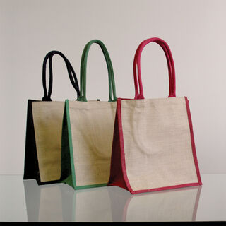 Natural Supermarket Shopper Bag (Green Gusset) - Ecobags