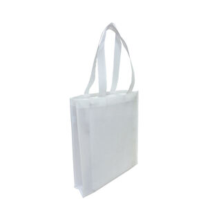 Tote with Gusset - WHITE - Ecobags