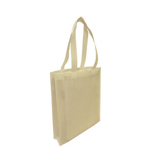 Tote with Gusset - BEIGE - Ecobags
