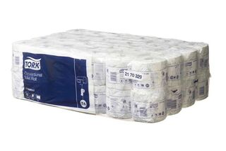 Conventional Toilet Roll 1Ply White - Tork 2170329