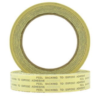 Double Sided Clear uPVC/Solvent Rubber Tape 18mm - Pomona