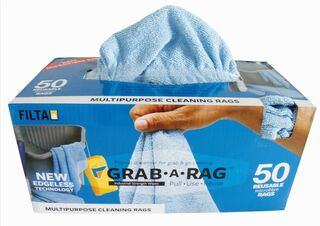 Grab-A-Rag Microfibre Cloths Blue - Filta
