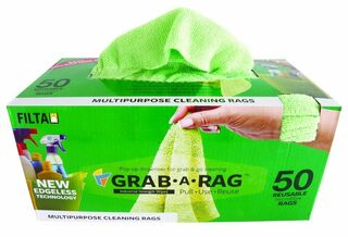 Grab-A-Rag Microfibre Cloths Green - Filta