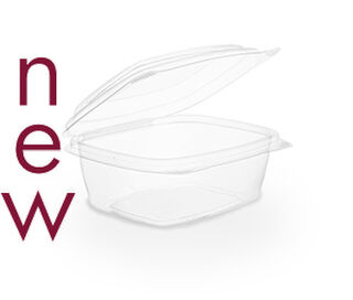 Clam Deli Bowl 300ml Brim - PLA - Vegware - Pack & Carton