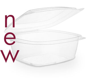 Clam Deli Bowl 1000ml Brim - PLA - Vegware - Pack & Carton