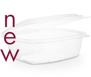 Clam Deli Bowl 1500ml Brim - PLA - Vegware - Pack & Carton