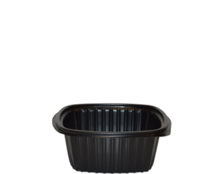 Home Meal Replacement Large Square Container 650 ml, Black - Castaway