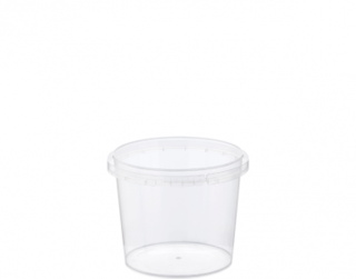 Locksafe' Small Round Tamper Evident Containers, 265 ml - Castaway