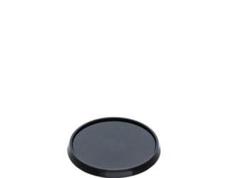 Locksafe' Small Round Tamper Evident Lids (suit 160-400 ml Cont), Black - Castaway