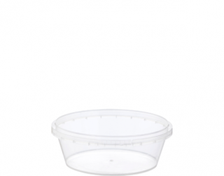 Locksafe' Round Tamper Evident Containers, 300 ml - Castaway