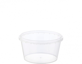 Locksafe' Round Tamper Evident Containers, 480 ml - Castaway