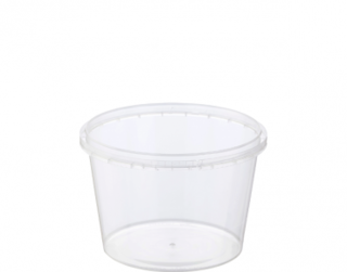 Locksafe' Round Tamper Evident Containers, 600 ml - Castaway