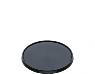 Locksafe' Round Tamper Evident Container Lids (suit 300-1120ml cont), Black - Castaway
