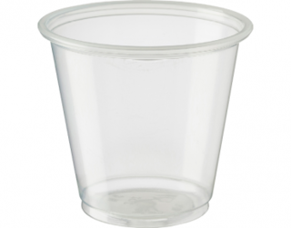 Medium Portion Control Cups Tal  105 ml, Clear - Castaway