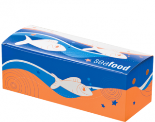 Medium Seafood Snack Boxes, Printed 'Seafood', Bulk Packed
