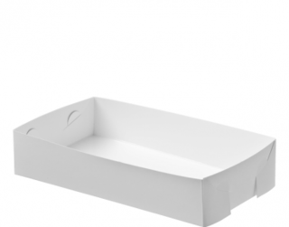 Folding Paper Food Trays Medium, White - Castaway