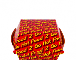 Hot Food 2 Go Burger Clams, Large Printed - Castaway
