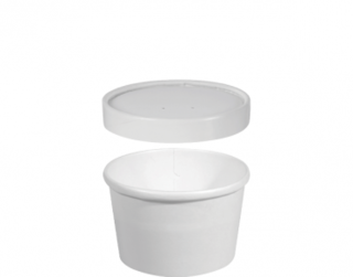 Heavy Weight Paper Containers & Vented Lids 8 oz Small - Castaway