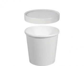 Heavy Weight Paper Containers & Vented Lids 12 oz Medium - Castaway