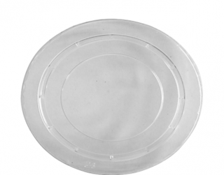Ice Cream / Gelato Cup Lids, Flat Small (suit 12 oz Take Home Pack), Clear - Castaway