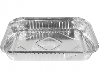 Extra Large Rectangular Catering Containers, Shallow 2500 ml - Castaway