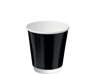 8oz Black Double Wall Paper Hot Cup